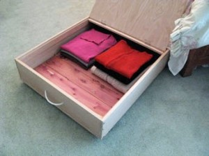 how to build an under bed storage box
